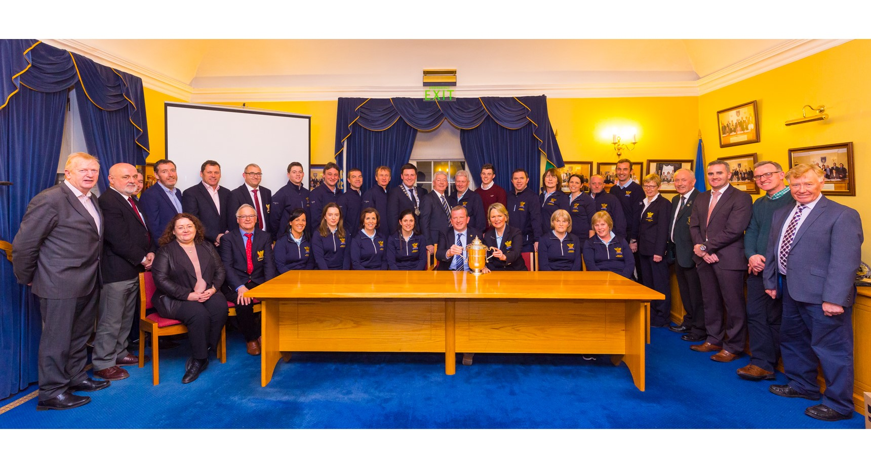 Civic Reception at Tullamore Municipal Council 112 Jan 2018