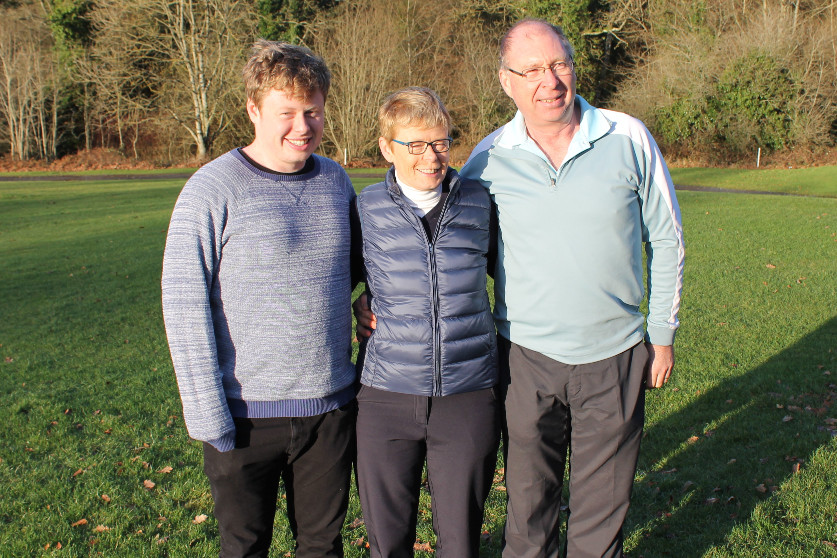 Lady Captain Stephanie with husband john and son