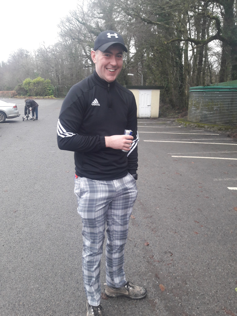 Trend setter and Tullamore's answer to John Daly - Shane Lowery member of Des Bandeetos team