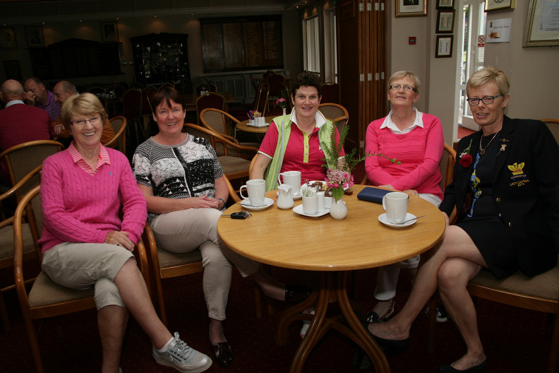 Frances Silke, Grace Ann Finnegan, Mary Kinsella Lady Captain Elect, Carmel Manton Stephanie McNiff Lady Captain