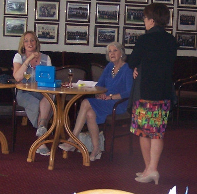 Janet Cogley & Dolores Rouse taking entries with Helen Egan