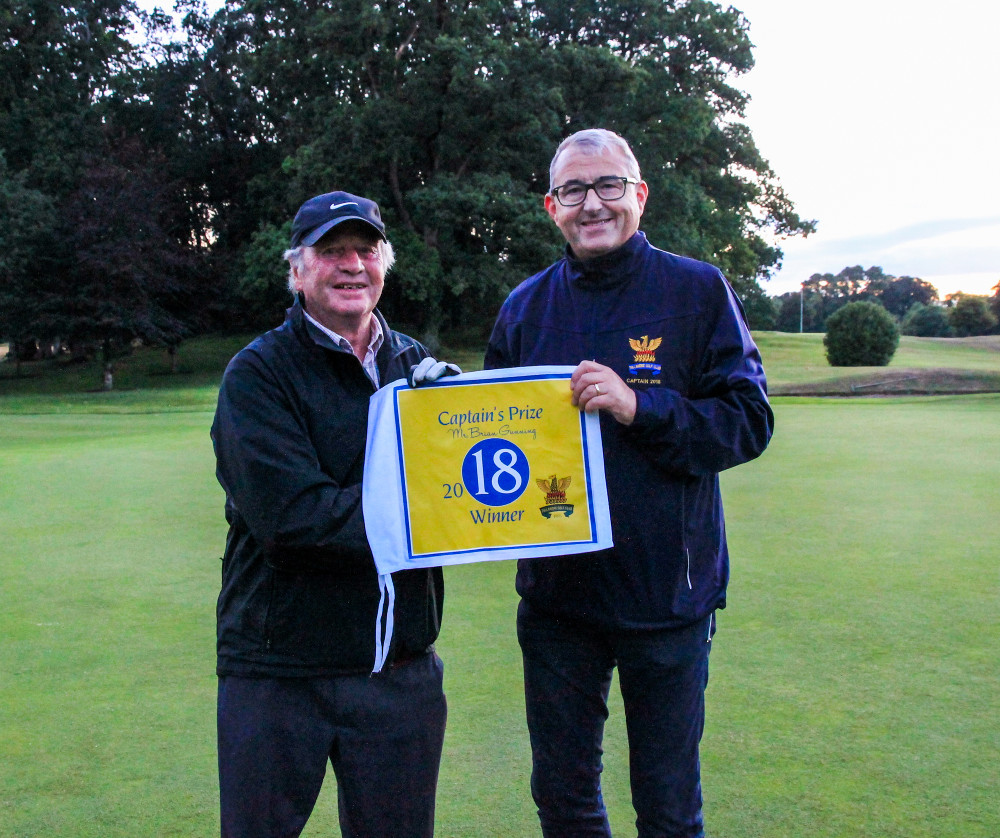 2018 Captain's prize winner Martin Lowry with Captain Brian Gunning