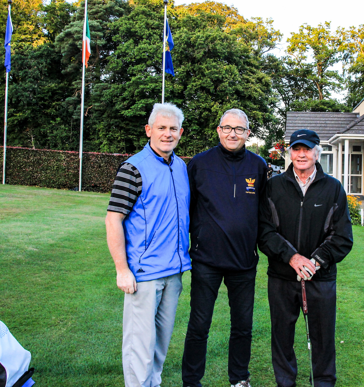Roddy and Martin with Captain Brian before 3-hole play-off