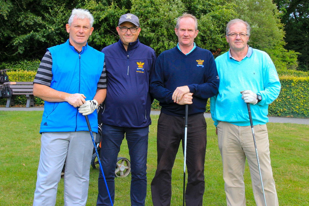 Roddy Molloy Kevin Troy Jim Quinlan with Captain Brian Gunning