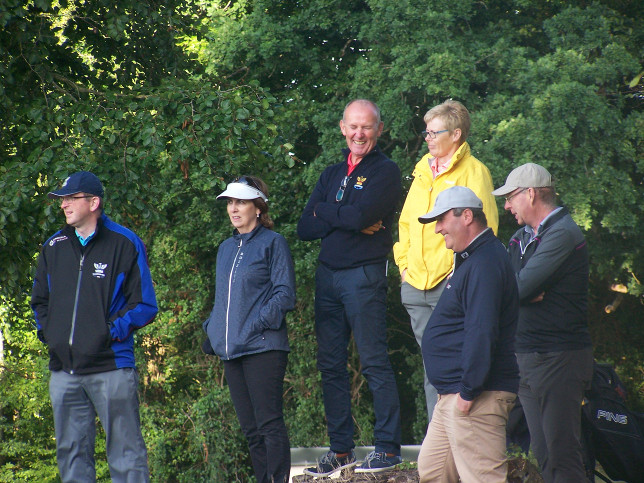 Lady Captain Stephanie McNiff with other spectators
