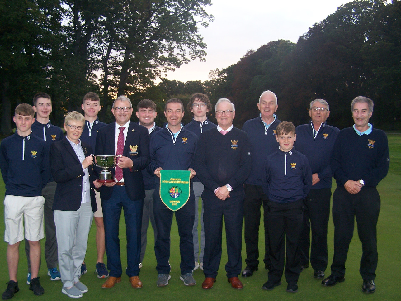 Team back home pictured with Lady Captain Stephanie, Captain Brian, President Joe and team reserves and mentors